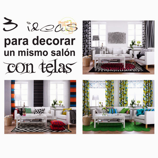 Tres ideas para decorar un mismo sal n for Ideas para decorar un mueble de salon