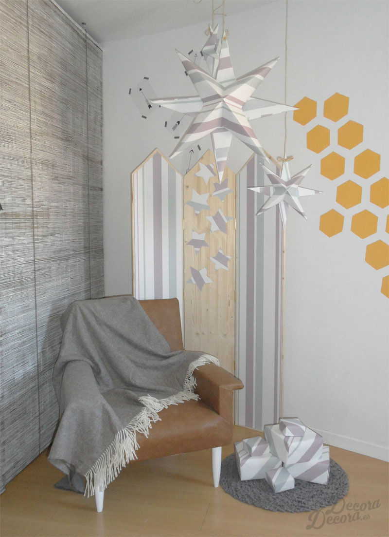 Decorar con papel de pared hacer un biombo - Papel autoadhesivo para decorar ...