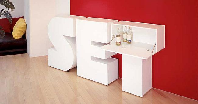 Muebles letras.