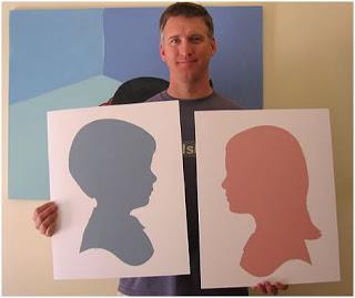siluetas en cuadros para decorar paredes