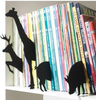 decora tus estanterias con siluetas de animales
