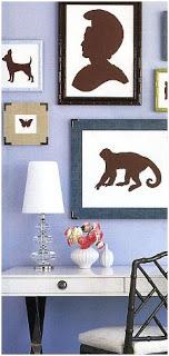 decorativos cuadros con siluetas