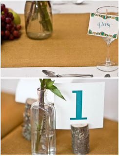 nombre de mesa en una copa