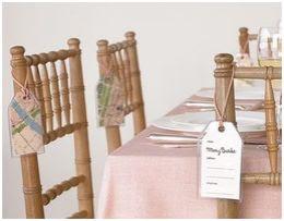 nombres de mesa en una silla
