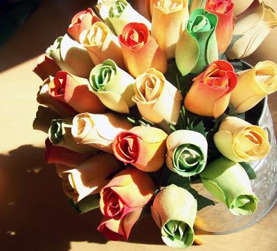 flores de madera para decorar