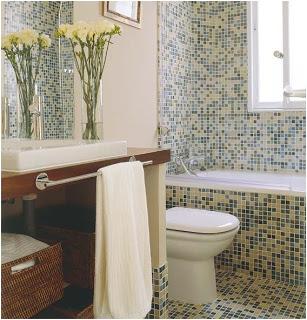 aprovechamiento del espacio, cuartos de baño pequeños