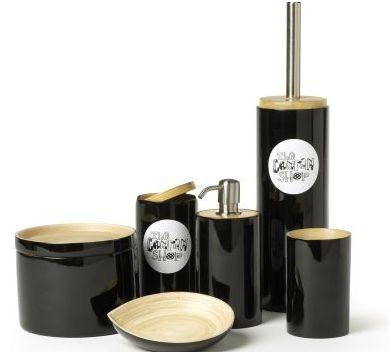 accesorios para baño de bambú