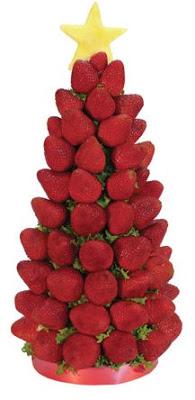 un original, divertido y diferente arbol de navidad hecho con fruta