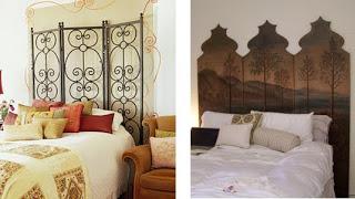 ideas para crear cabeceros de cama con biombos