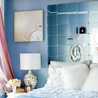 idea para un cabecero de cama con espejos