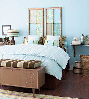 crear un cabecero de cama decorativo con listones de madera