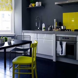 combinar colores gris y amarillo en decoracion