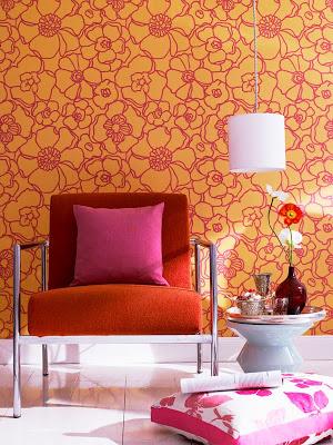 idea para combinar rosa y naranja en la decoracion