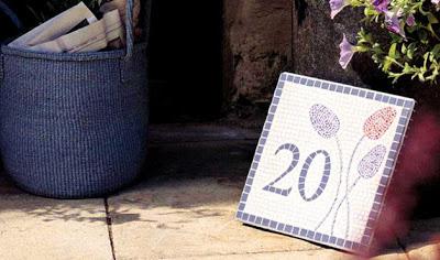 mosaicos con numeros para la puerta