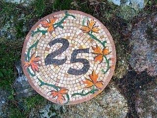 numeros puerta para fachadas con mosaicos