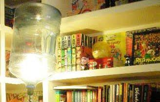 reciclar una botella de plastico como lampara