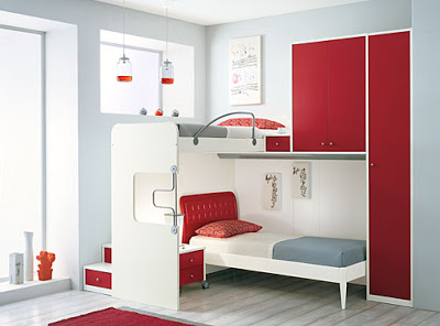 redecorar un dormitorio con rojo