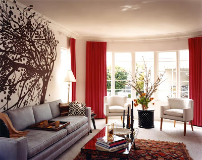 decorar con gris, rojo y blanco