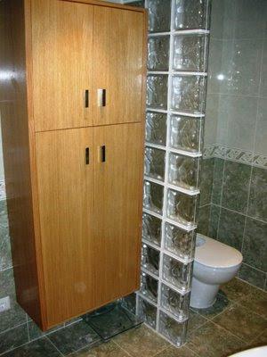 separar y decorar en el cuarto de baño