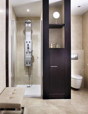 separar ambientes en el cuarto de baño