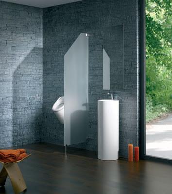 separadores de ambientes en el cuarto de baño