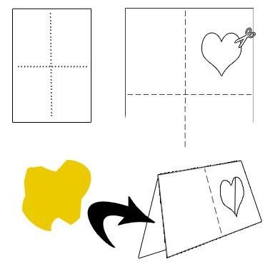 tutorial hacer una tarjeta felicitacion con corazon