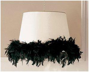 Lamparas decoradas con plumas