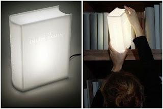 libro-lampara para decorar una libreria