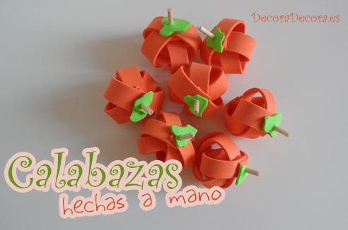 calabazas hechas a mano