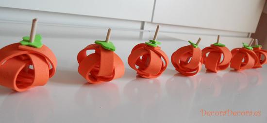 calabazas de otoño hechas a mano