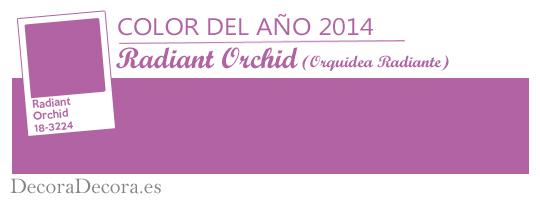 Radiant Orchid, color del año 2014
