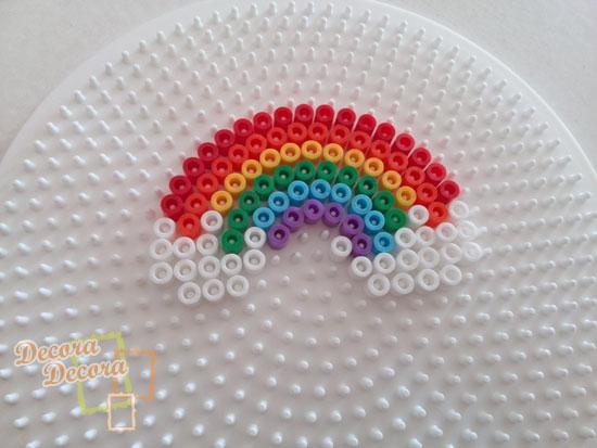 Decorar con un arcoíris de Hama Beads