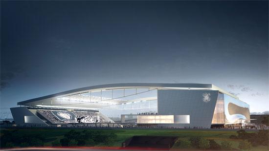 Estadio Arena Corinthians Brasil.