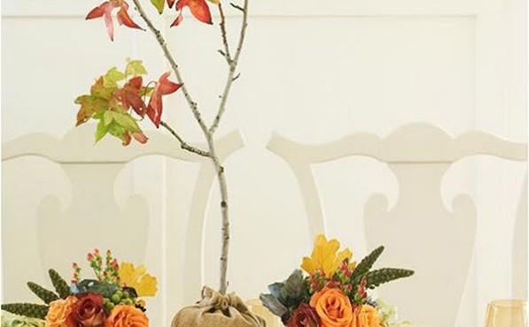 Decorar mesa otoño