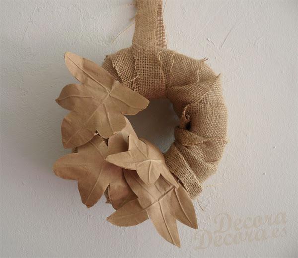 Corona decoración otoño