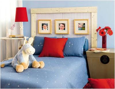 idea para decorar el cabecero de la cama