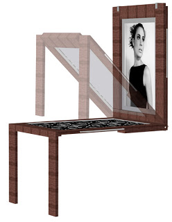 mesa cuadro plegable