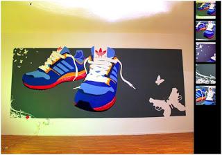 decorar con murales y espray las paredes