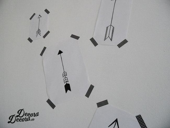 Láminas flechas DIY