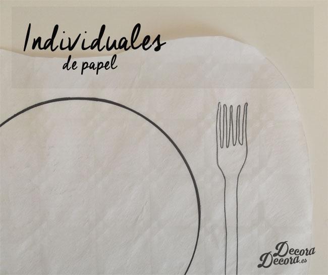 Manteles hechos a mano con papel.