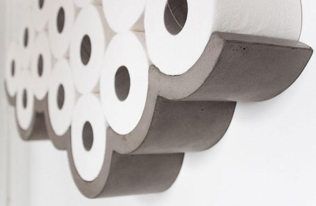 Cemento para el papel higiénico.
