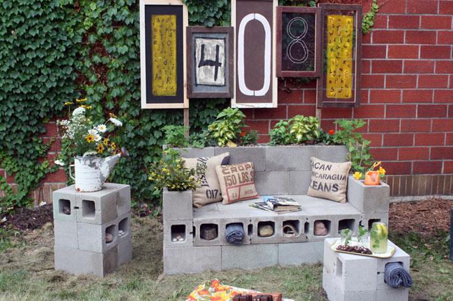 Sofá de bloques de construcción.