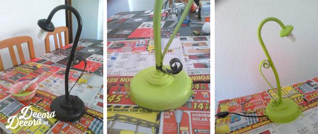 Cómo pintar una lámpara.