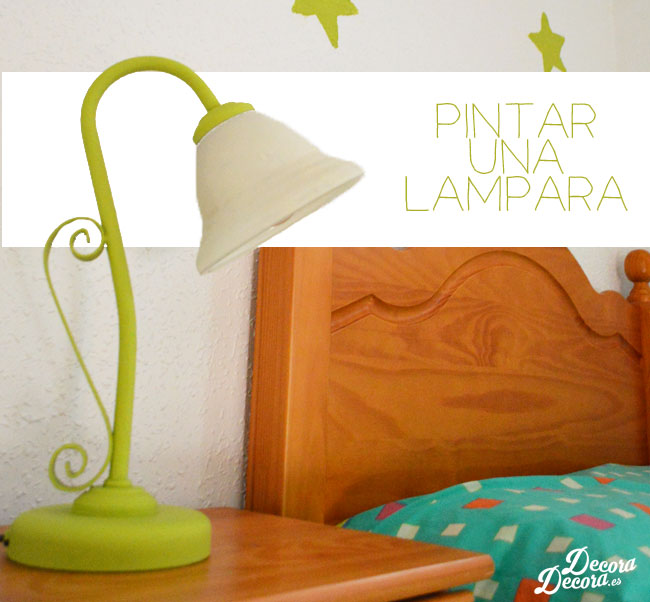 Pintar una lámpara en casa.