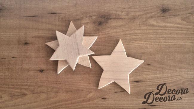 Posavasos con forma de estrella DIY.