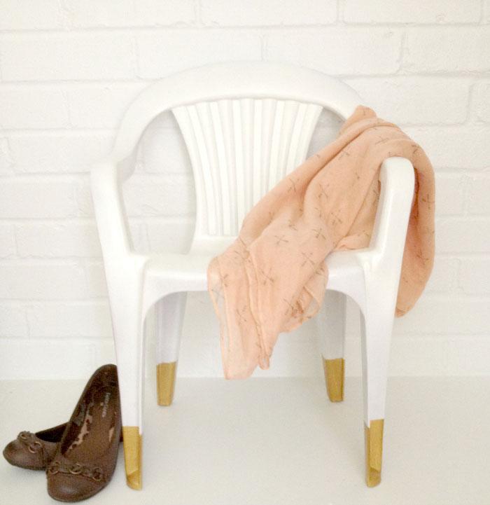 Decorar sillas de plástico