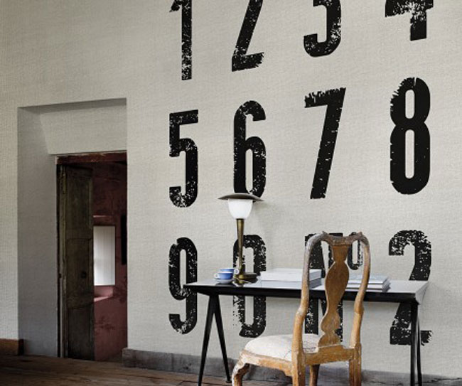 Papel de pared con números