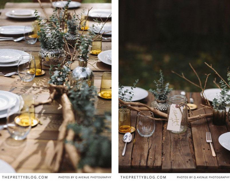 Mesa exterior otoño