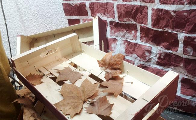 Escaparate de otoño, diseño y decoración.