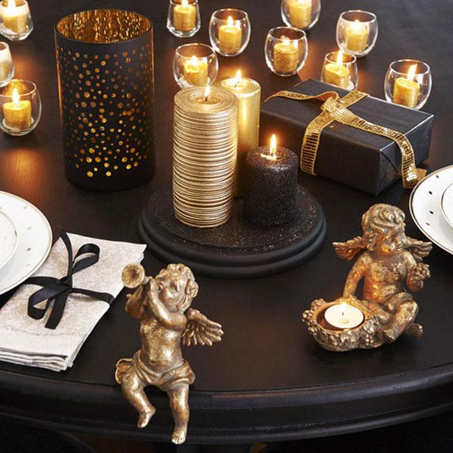 Dorado para decorar la mesa de Navidad